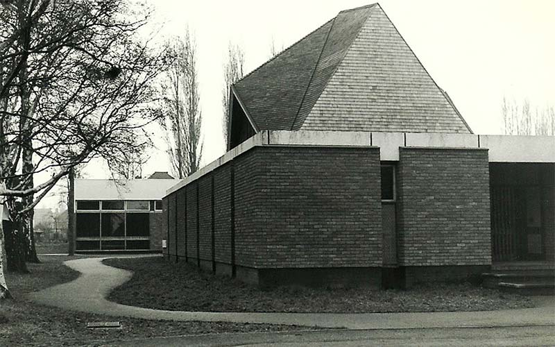 The finished church prior to opening