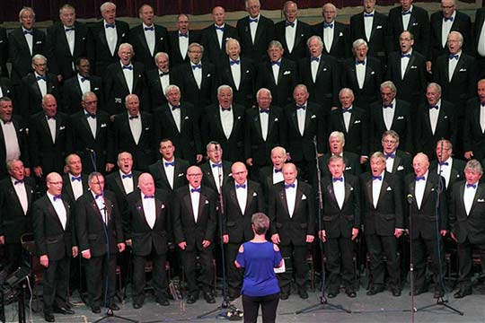 The Gentlemen Songsters Male Voice Choir performing live